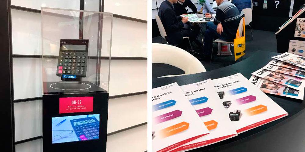 Калькуляторы CASIO на выставке Скрепка-2017