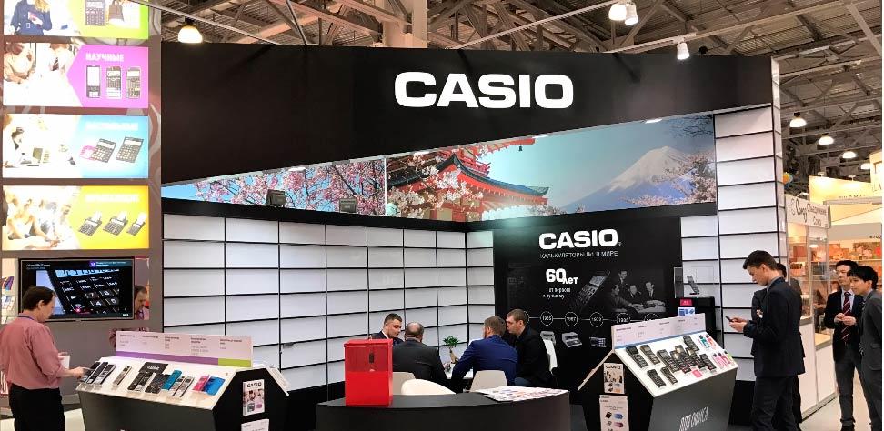 Калькуляторы CASIO на выставк Скрепка-2017