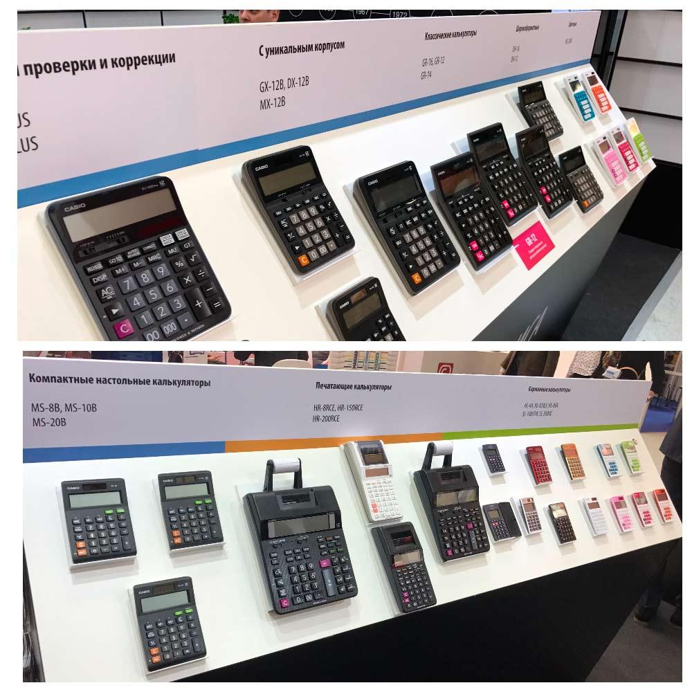 Калькуляторы CASIO на выставке